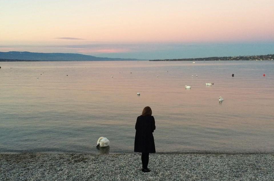 Voyage à Genève, la femme au cygne